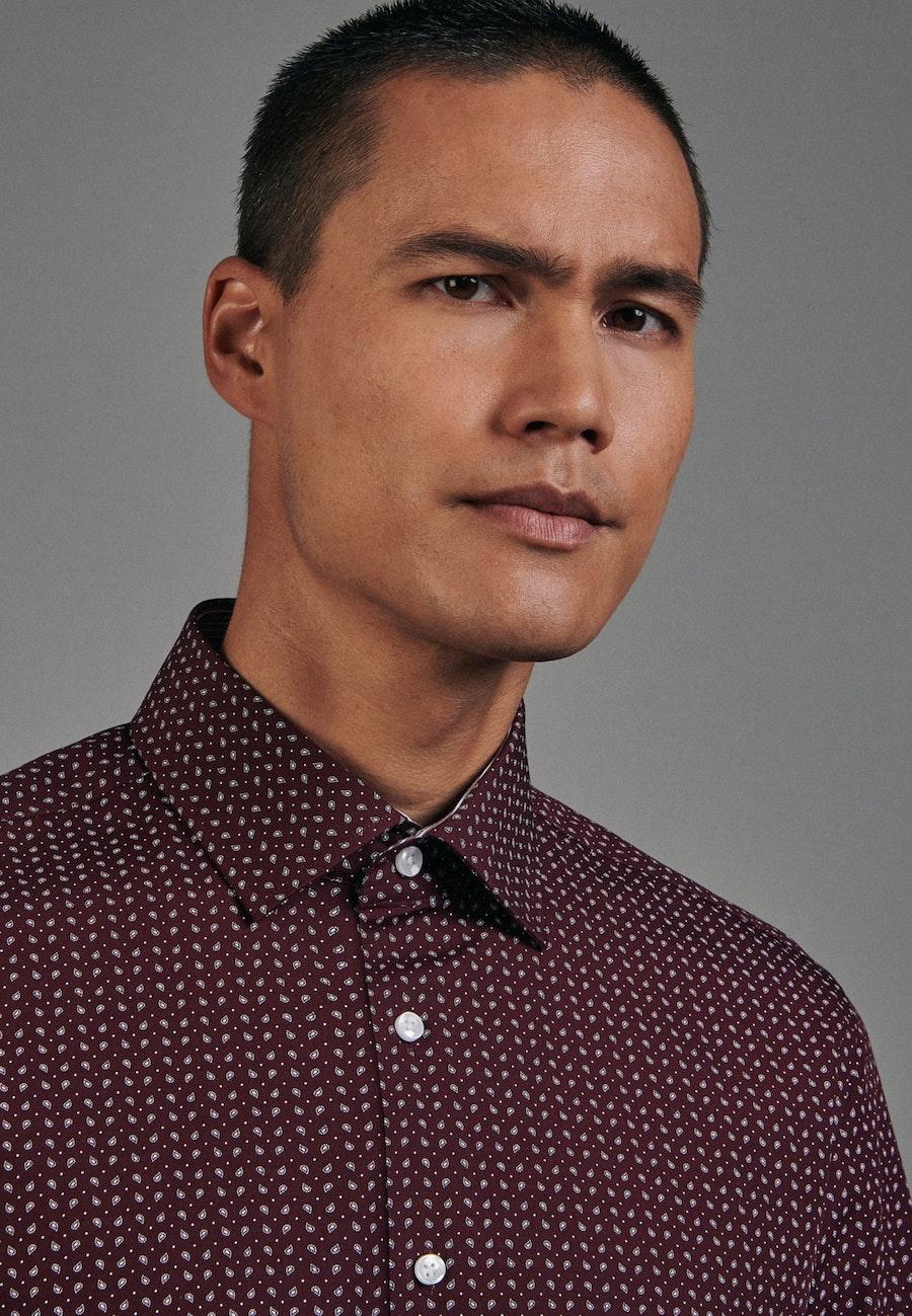 Easy-iron Popeline Business Shirt in Slim with Kent-Collar in Red |  Seidensticker Onlineshop