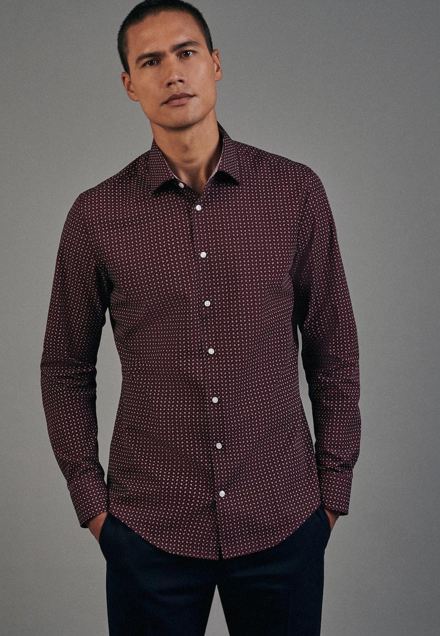 Easy-iron Poplin Business Shirt in Slim with Kent-Collar in Red |  Seidensticker Onlineshop