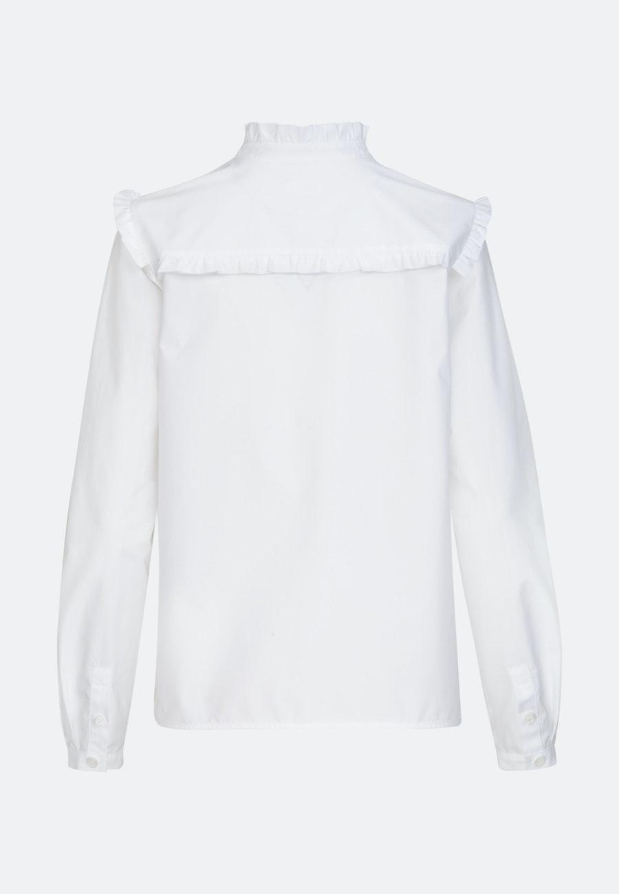 Poplin Stand-Up Blouse made of 100% Cotton in White |  Seidensticker Onlineshop