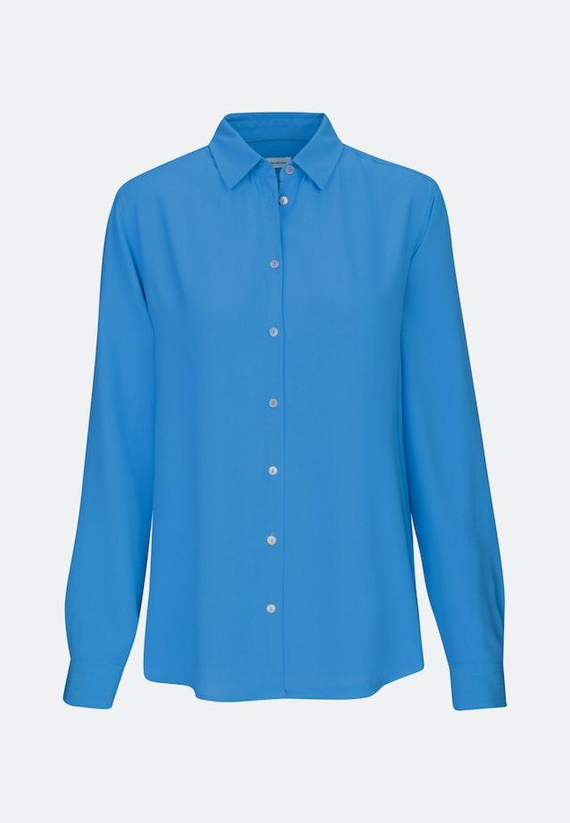 Crepe Shirt Blouse made of 100% Viscose in Medium blue |  Seidensticker Onlineshop