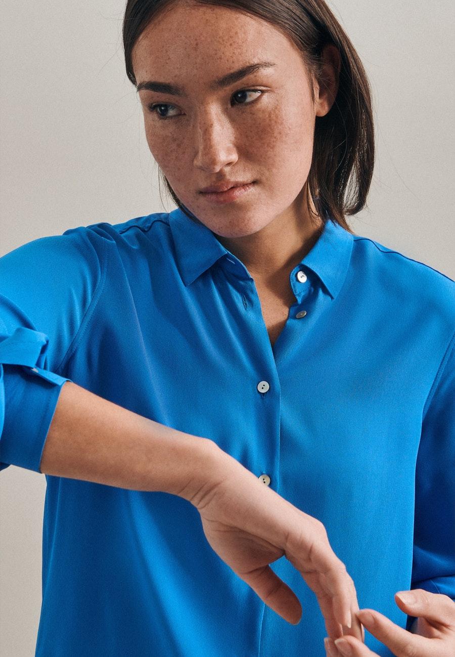 Krepp Shirt Blouse made of 100% Viscose in Medium blue |  Seidensticker Onlineshop