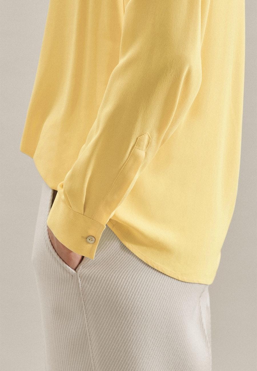 Krepp Hemdbluse aus 100% Viskose in Gelb |  Seidensticker Onlineshop