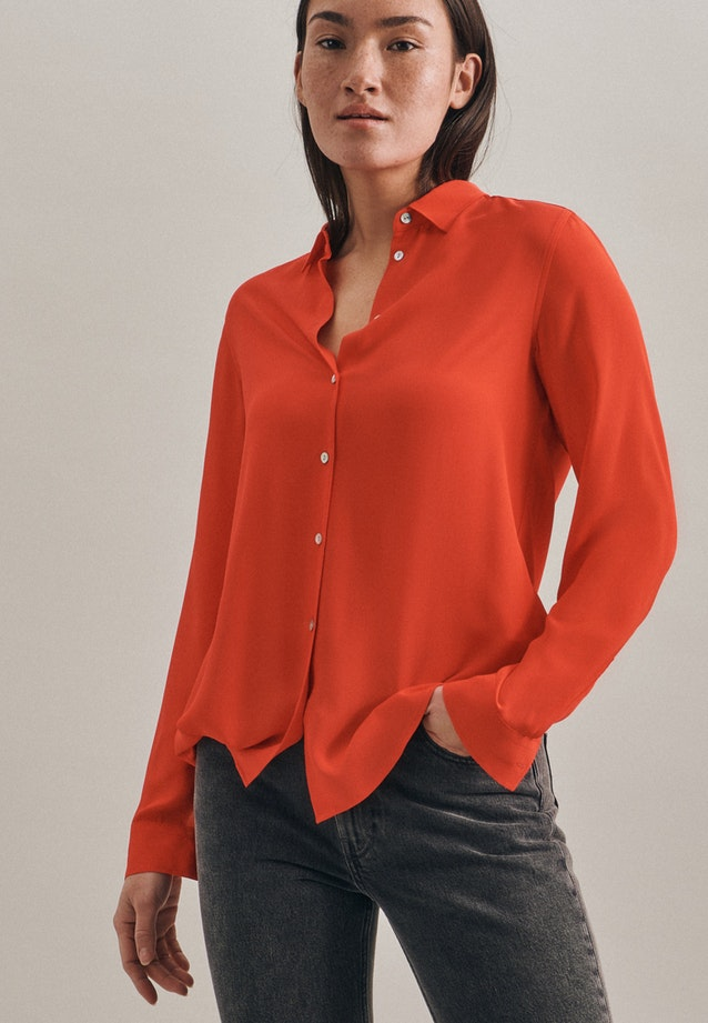Krepp Shirt Blouse made of 100% Viscose in Red |  Seidensticker Onlineshop