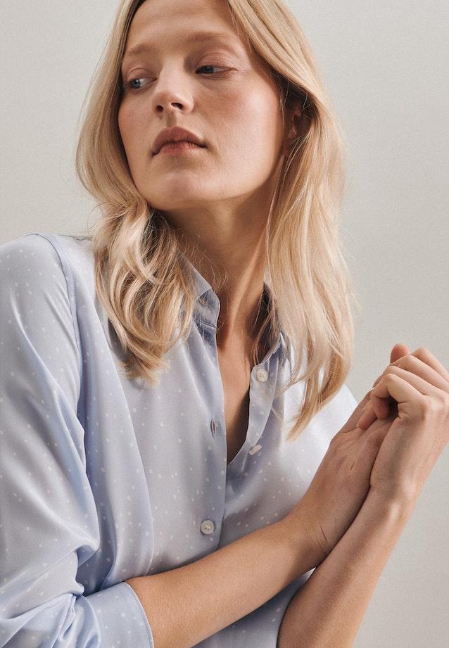 Popeline Shirt Blouse made of 100% Viscose in Light blue |  Seidensticker Onlineshop