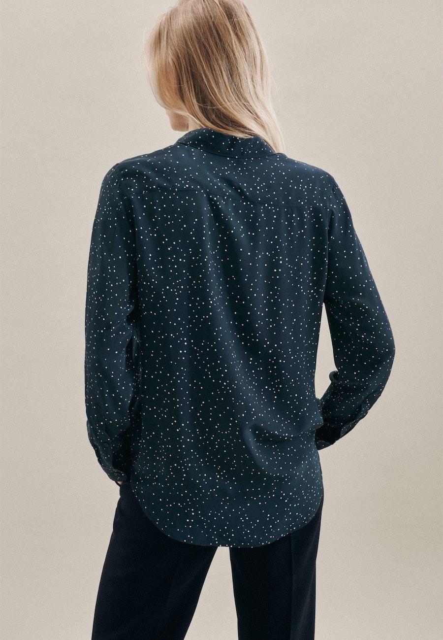 Popeline Shirt Blouse made of 100% Viscose in Dark blue |  Seidensticker Onlineshop