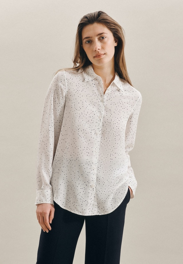 Popeline Shirt Blouse made of 100% Viscose in White |  Seidensticker Onlineshop