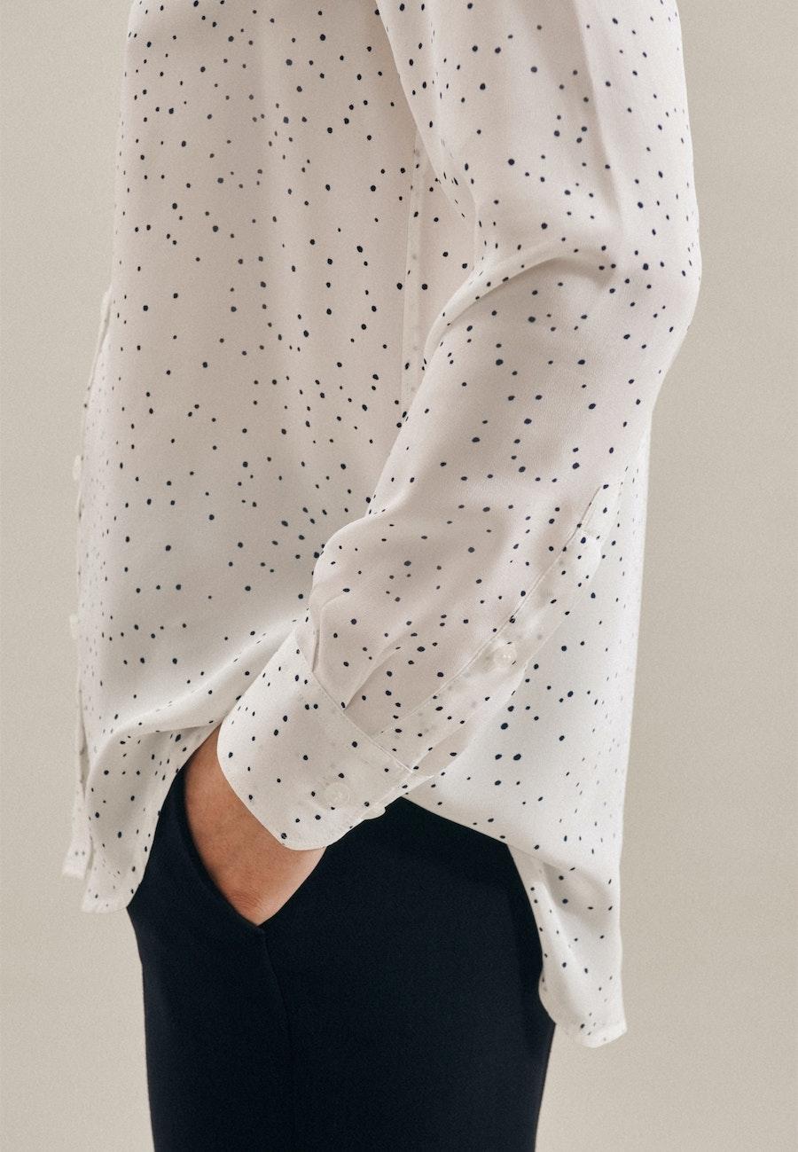 Popeline Shirt Blouse made of 100% Viscose in White |  Seidensticker Onlineshop