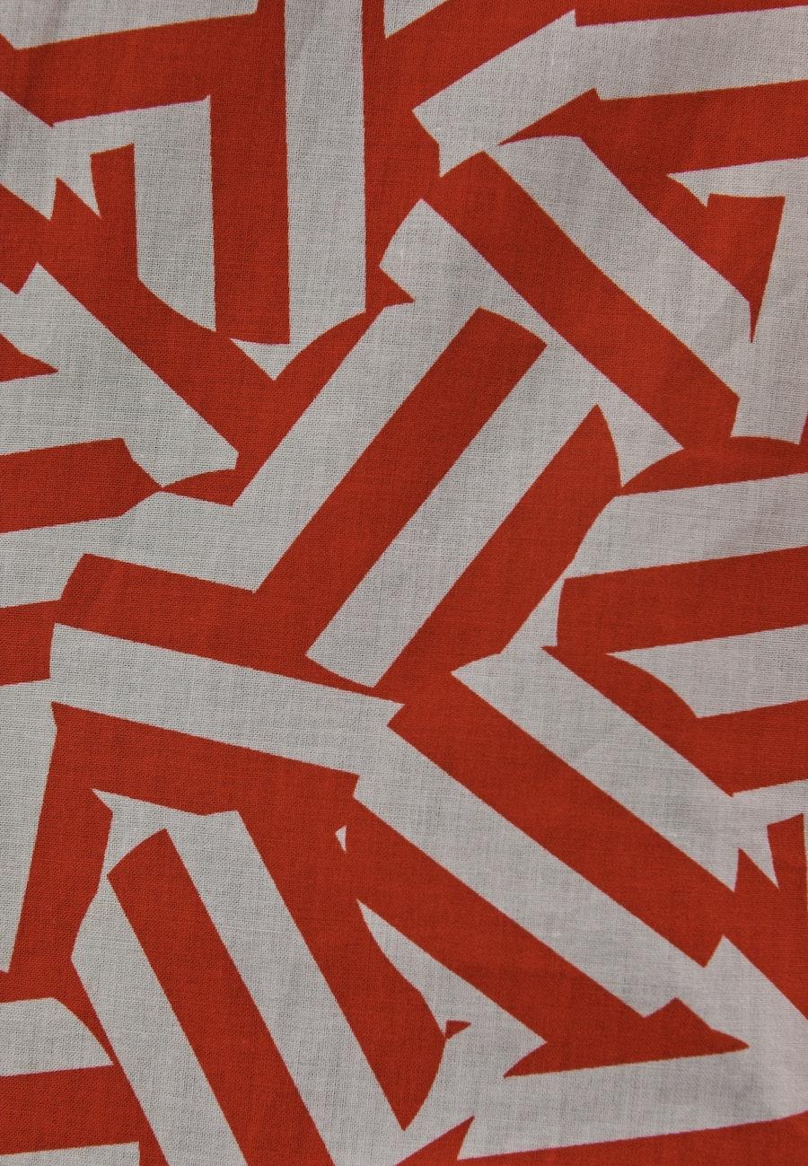 Voile Stehkragenbluse aus 100% Baumwolle in Rot |  Seidensticker Onlineshop