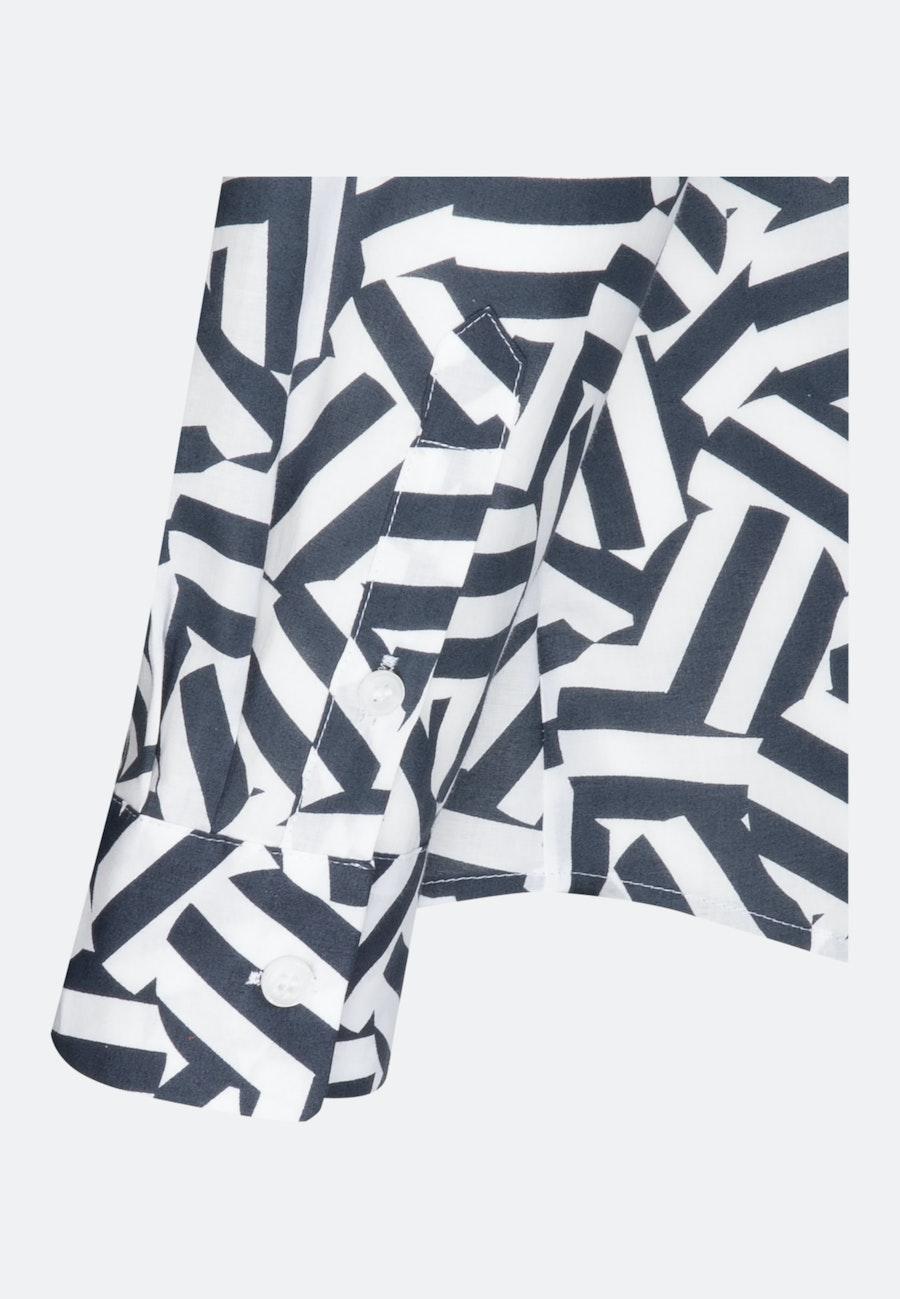 Voile Stand-Up Blouse made of 100% Cotton in Dark blue |  Seidensticker Onlineshop