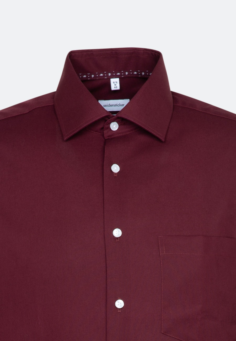 Non-iron Poplin Business Shirt in Regular with Kent-Collar and extra long sleeve in Red |  Seidensticker Onlineshop