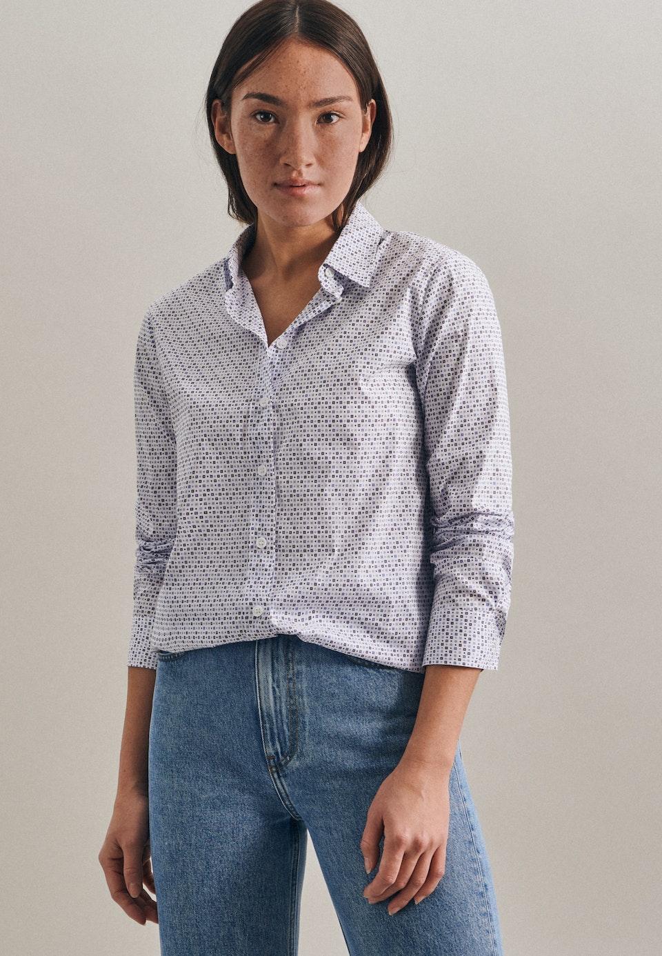 Popeline Hemdbluse aus Baumwollmischung in Ecru |  Seidensticker Onlineshop