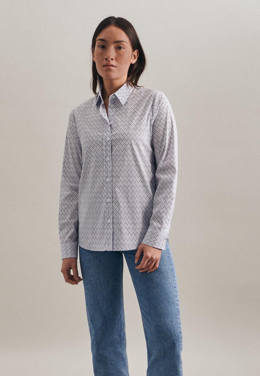 Popeline Hemdbluse aus Baumwollmischung in Ecru    Seidensticker Onlineshop