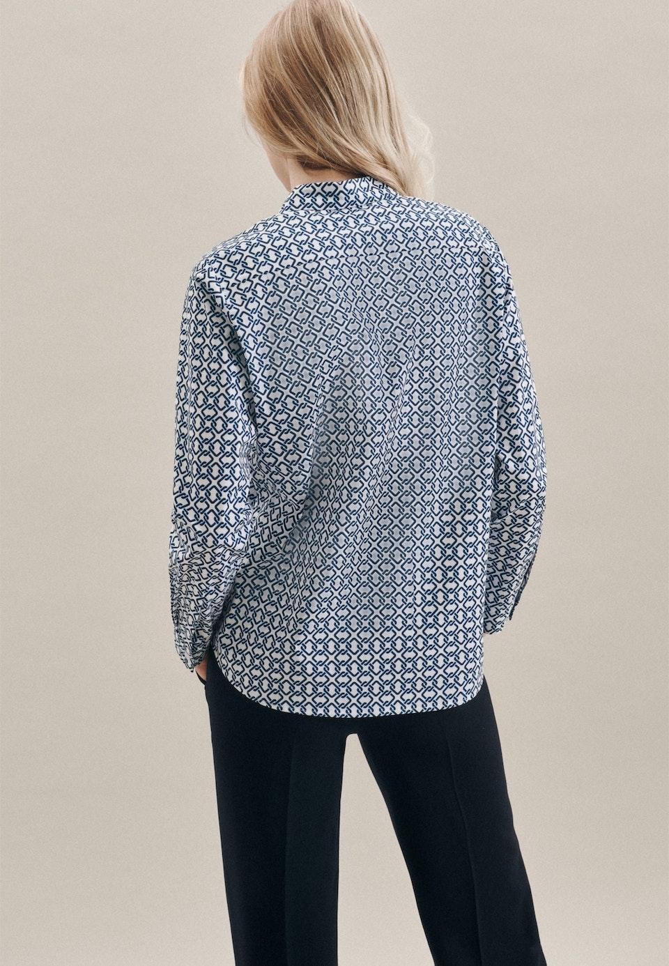 Popeline Shirt Blouse made of cotton blend in Ecru |  Seidensticker Onlineshop