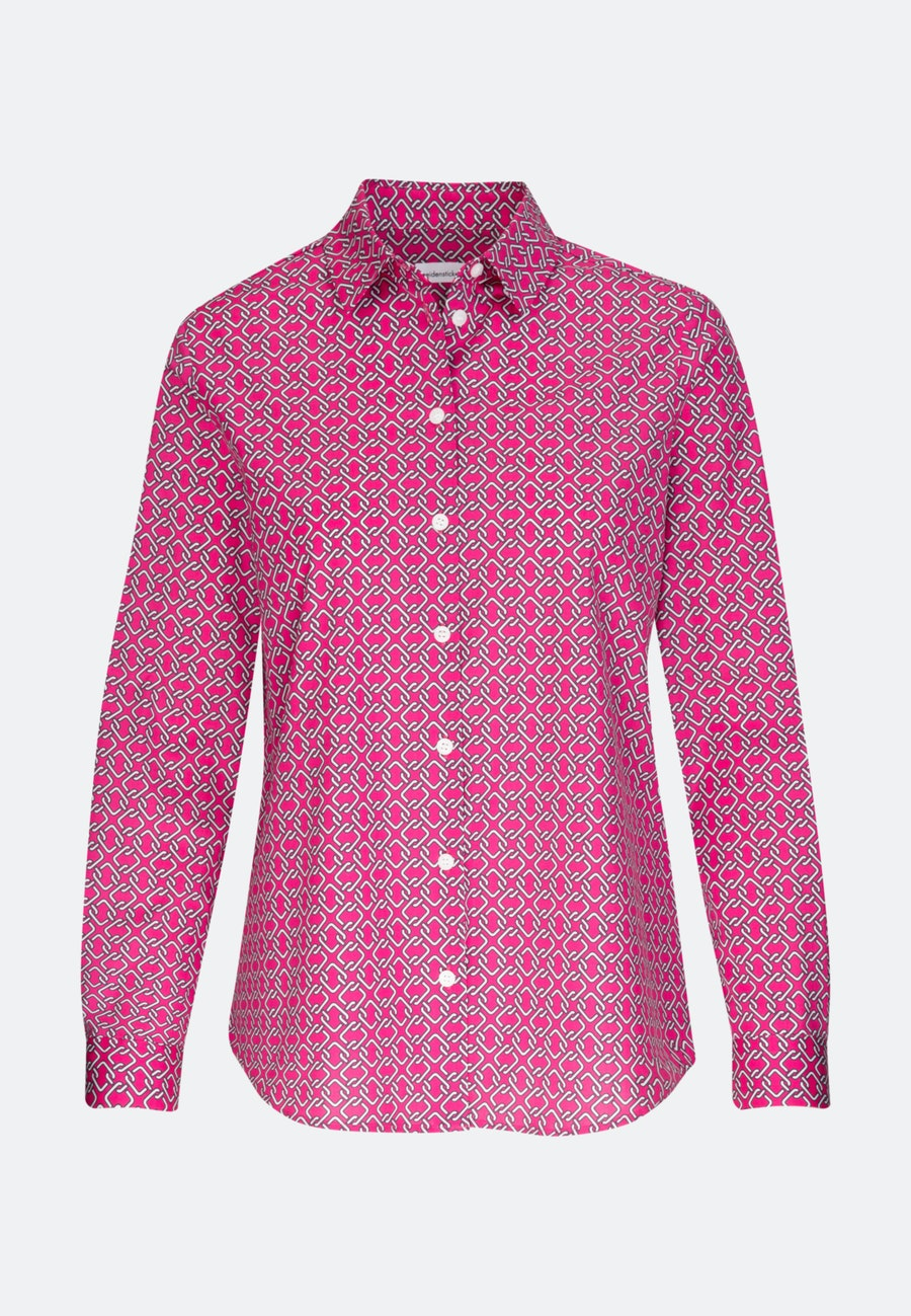 Popeline Shirt Blouse made of cotton blend in Pink |  Seidensticker Onlineshop