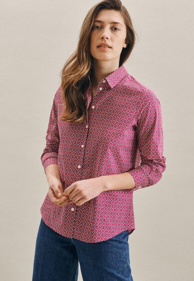 Popeline Hemdbluse aus Baumwollmischung in Rosa/Pink    Seidensticker Onlineshop