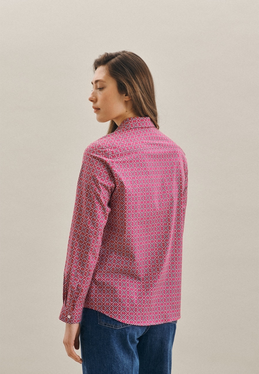 Popeline Shirt Blouse made of cotton blend in Pink |  Seidensticker Onlineshop