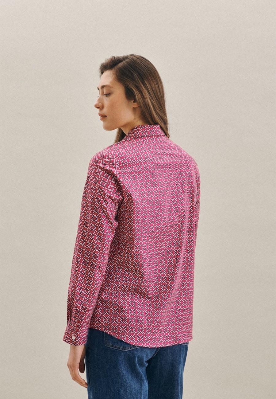 Popeline Hemdbluse aus Baumwollmischung in Rosa/Pink |  Seidensticker Onlineshop