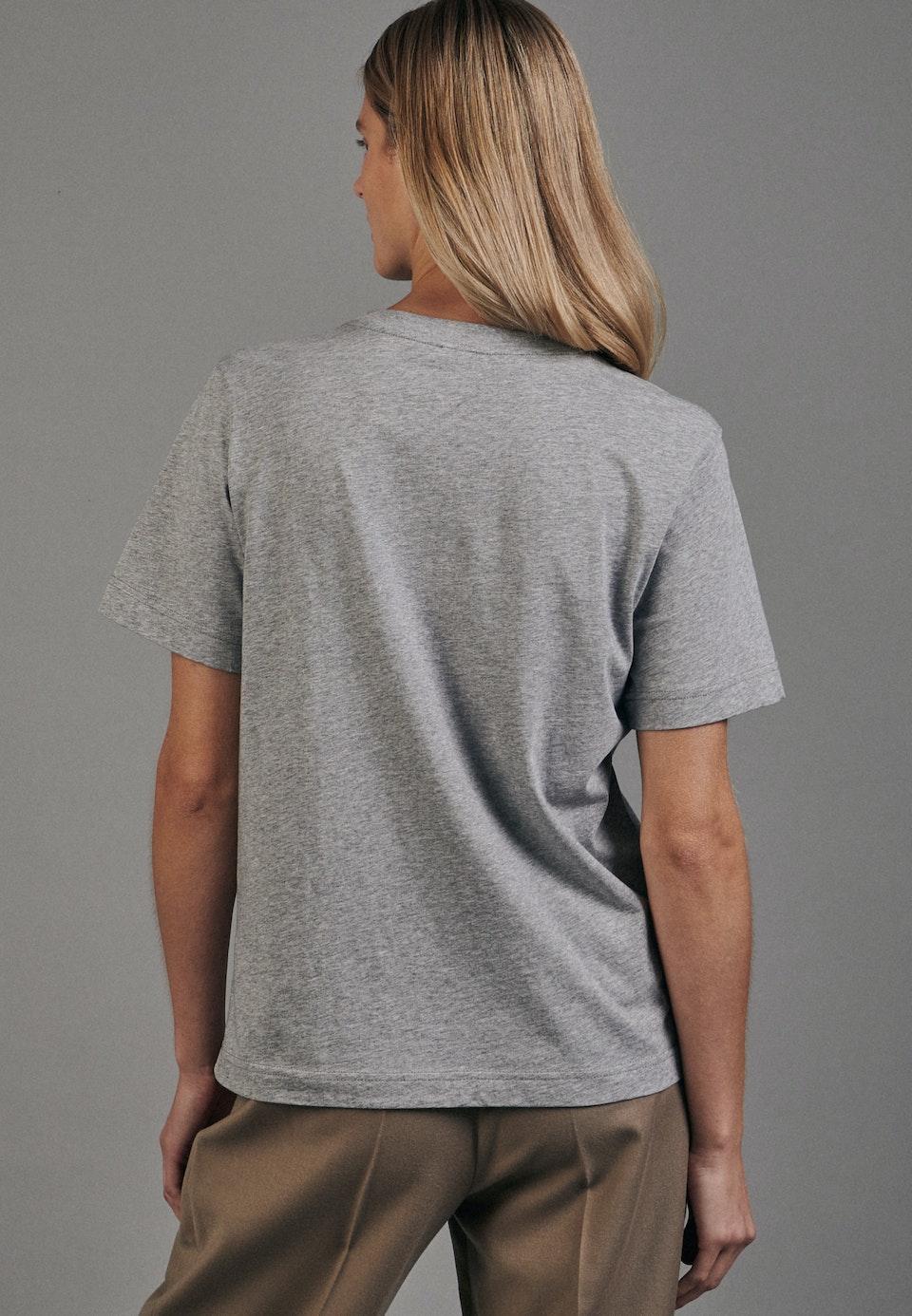 Crew Neck T-Shirt made of 100% Cotton in Grey    Seidensticker Onlineshop