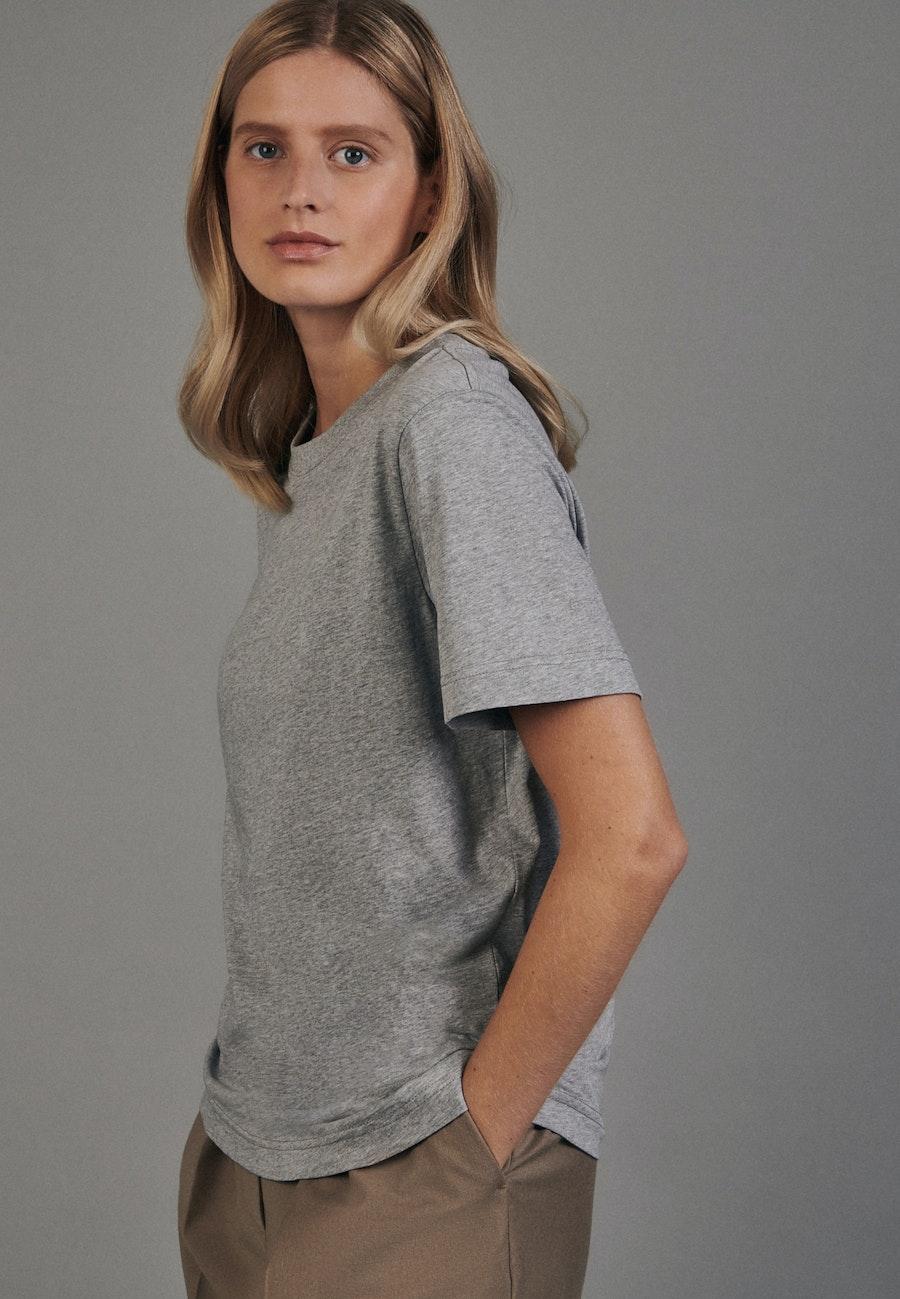 Rundhals T-Shirt aus 100% Baumwolle in Grau |  Seidensticker Onlineshop