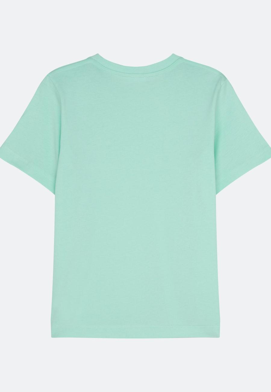 Rundhals T-Shirt aus 100% Baumwolle in Türkis/Petrol    Seidensticker Onlineshop