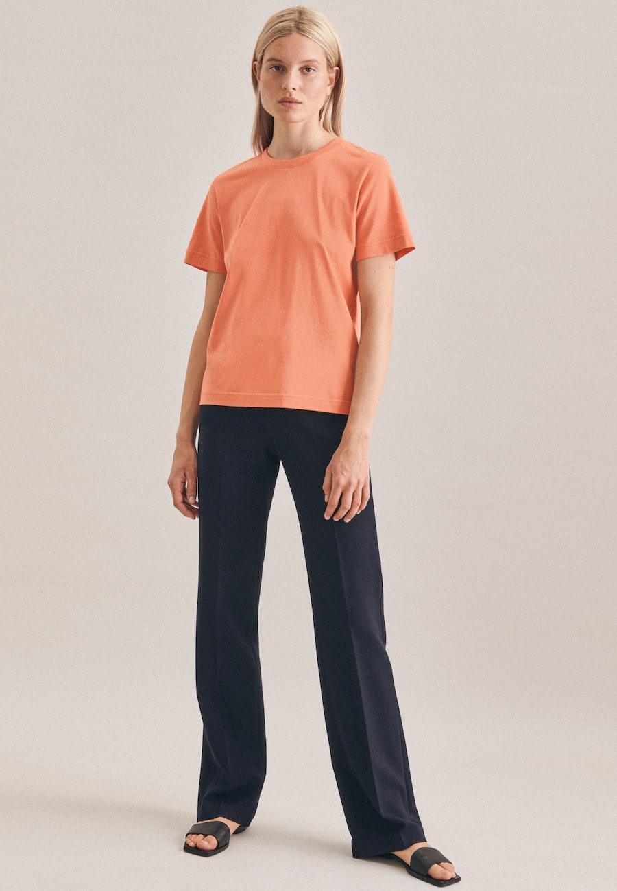 Rundhals T-Shirt aus 100% Baumwolle in Rosa/Pink |  Seidensticker Onlineshop