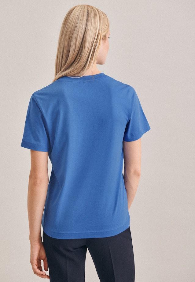 Rundhals T-Shirt aus 100% Baumwolle in Hellblau |  Seidensticker Onlineshop