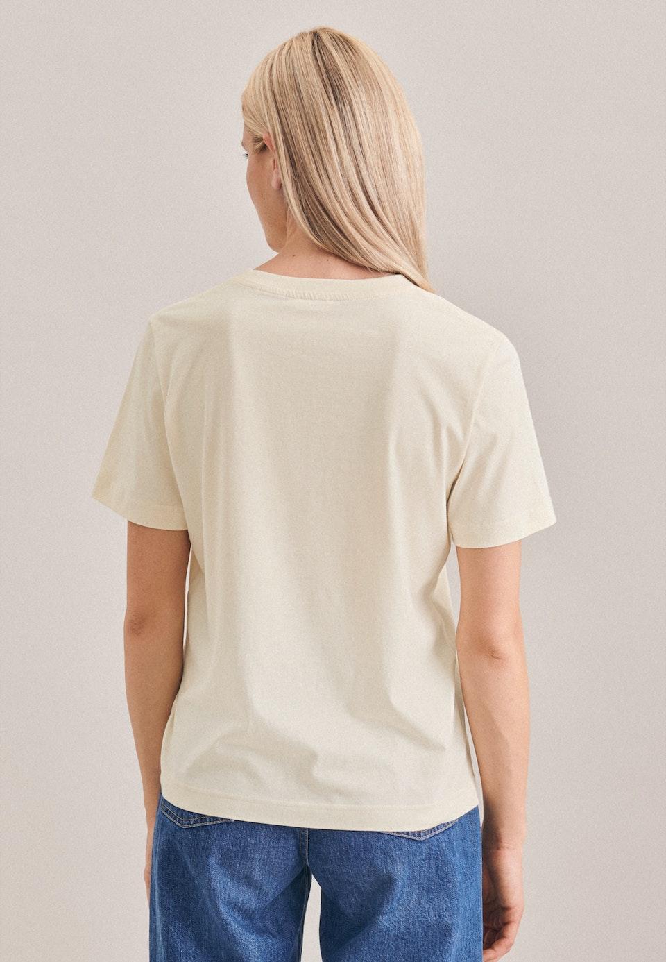 Crew Neck T-Shirt made of 100% Cotton in Ecru    Seidensticker Onlineshop