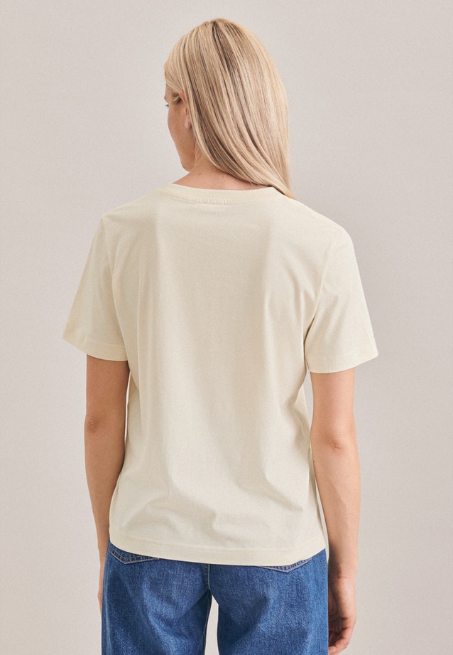 Crew Neck T-Shirt made of 100% Cotton in Ecru |  Seidensticker Onlineshop
