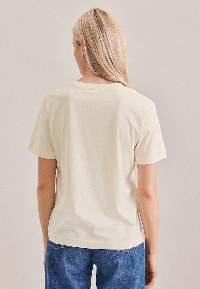 Rundhals T-Shirt aus 100% Baumwolle in Ecru |  Seidensticker Onlineshop