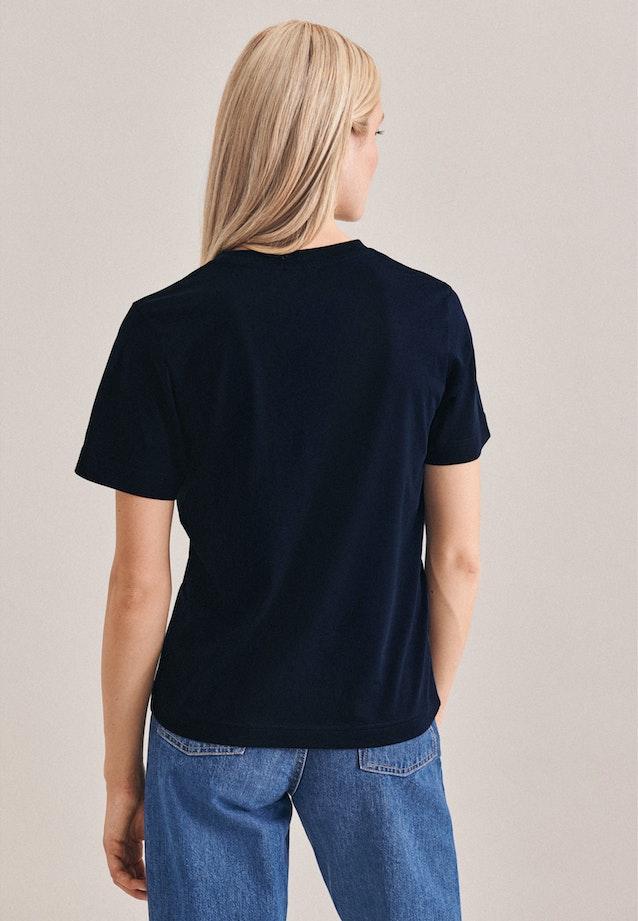 Crew Neck T-Shirt made of 100% Cotton in Dark blue |  Seidensticker Onlineshop