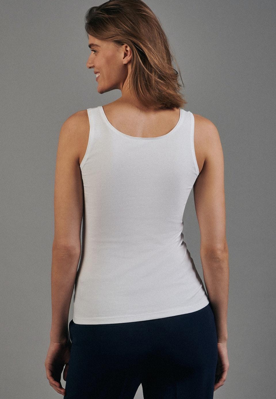 Sleeveless Top made of cotton blend in White |  Seidensticker Onlineshop