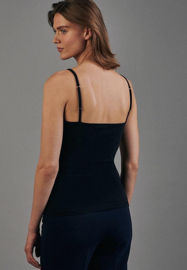 Sleeveless Top made of cotton blend in Black |  Seidensticker Onlineshop