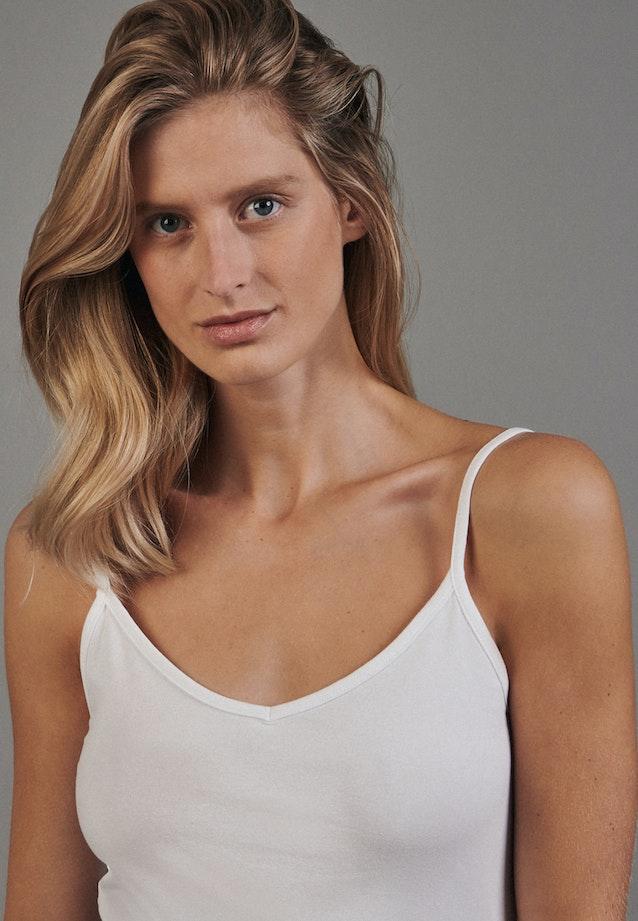 Ärmelloses Top aus Baumwollmischung in Weiß |  Seidensticker Onlineshop