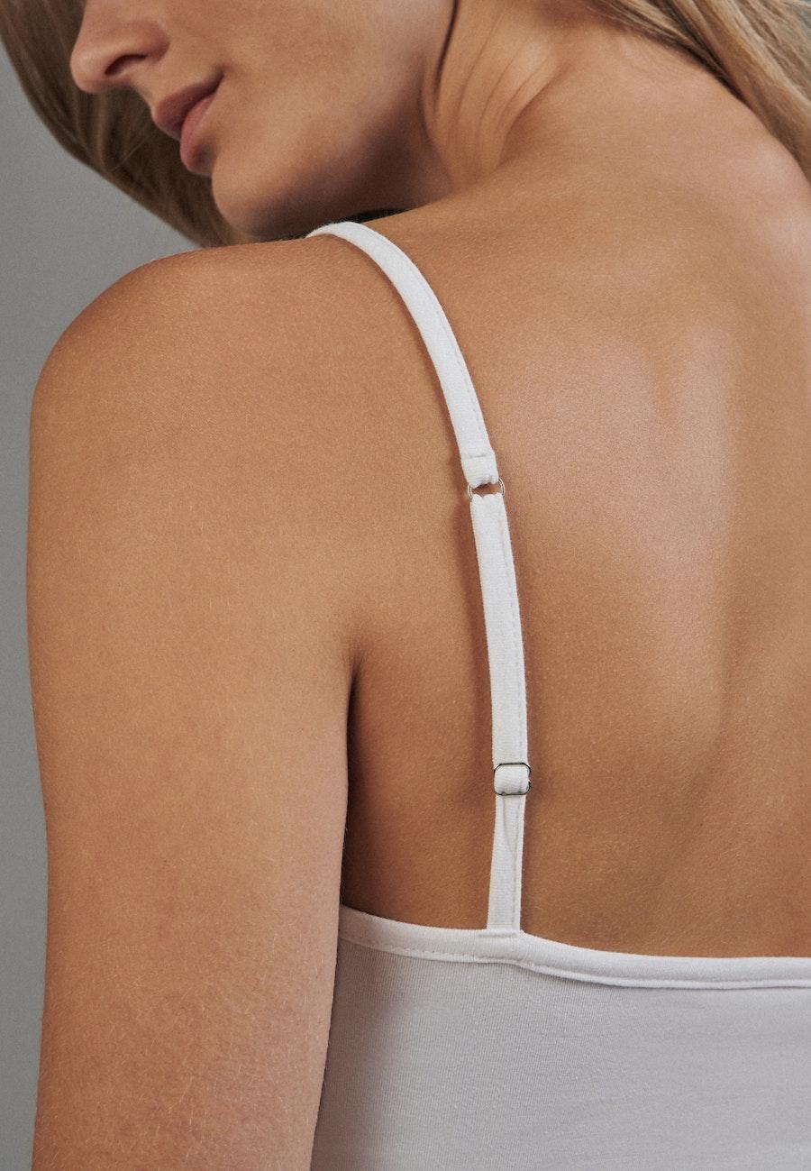 Crew Neck Top made of cotton blend in White    Seidensticker Onlineshop