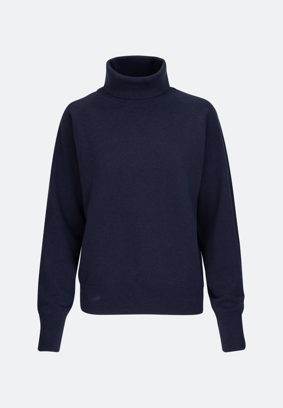 Polo Neck Pullover made of 100% Wool in Dark blue |  Seidensticker Onlineshop