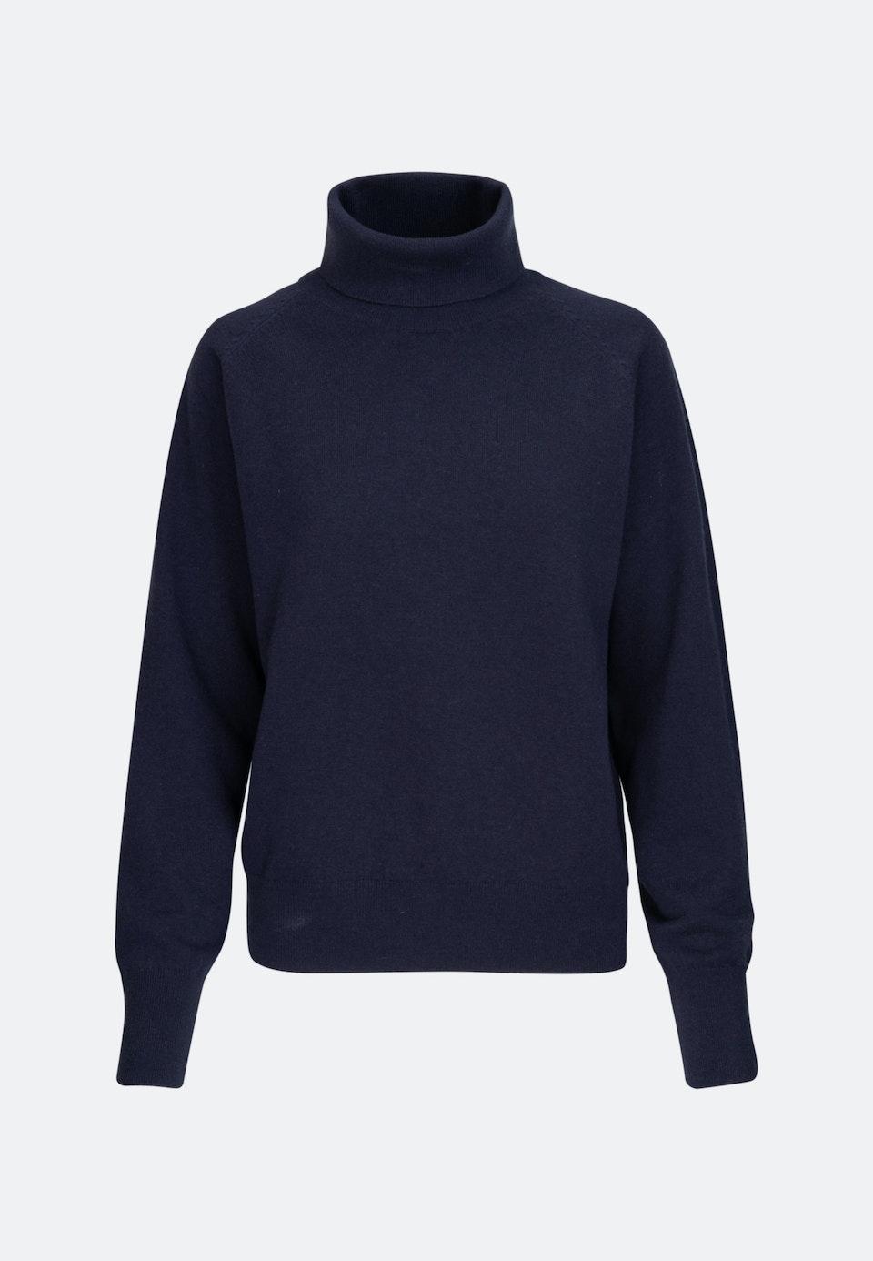 Polo Neck Pullover made of 100% Wool in Dark blue |  Seidensticker Onlineshop