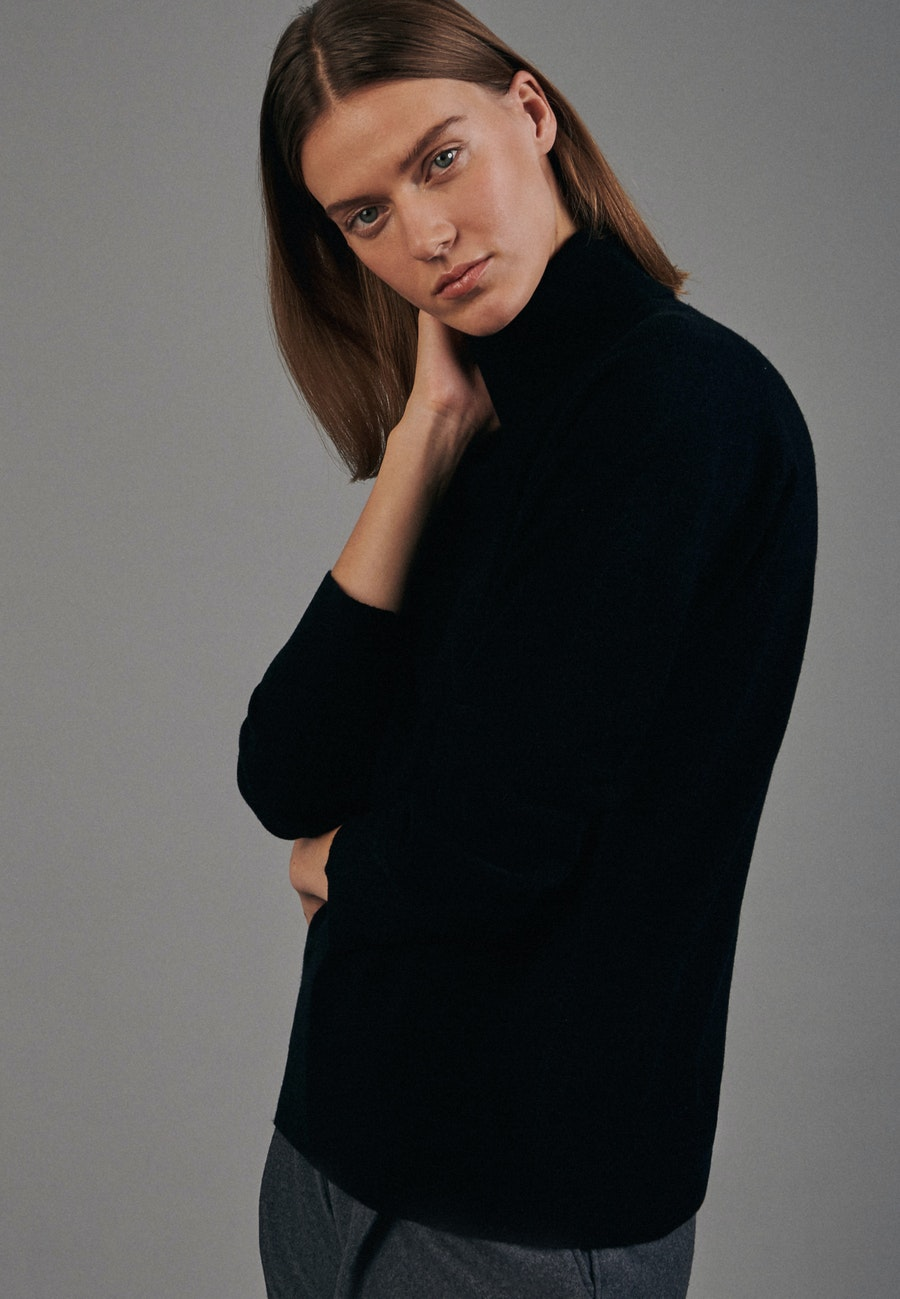 Polo Neck Pullover made of 100% Wool in Black |  Seidensticker Onlineshop