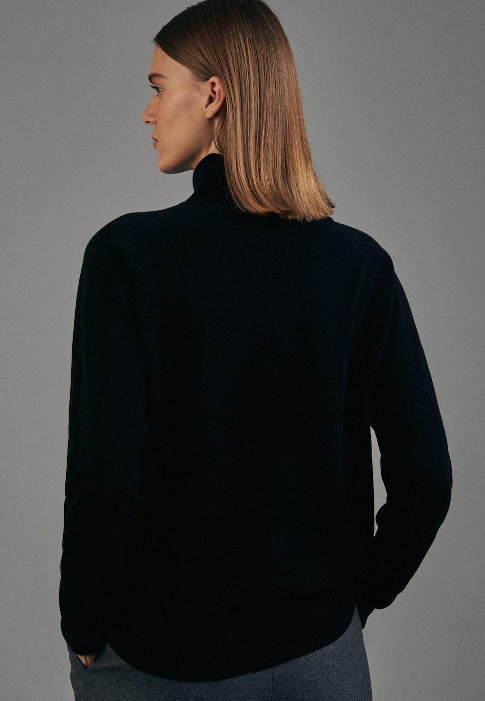Rollkragen Pullover aus 100% Wolle in Schwarz    Seidensticker Onlineshop