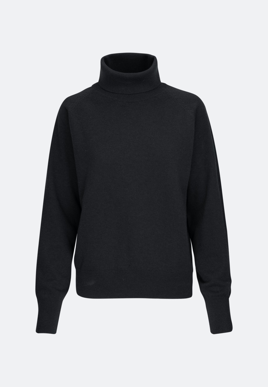 Polo Neck Pullover made of 100% Wool in Black |  Seidensticker Onlineshop