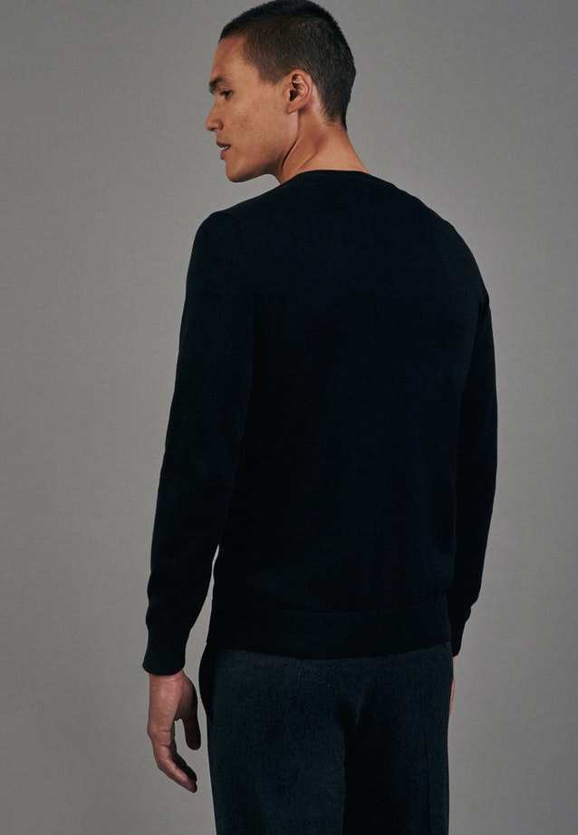 V-Neck Pullover made of 100% Cotton in Black |  Seidensticker Onlineshop