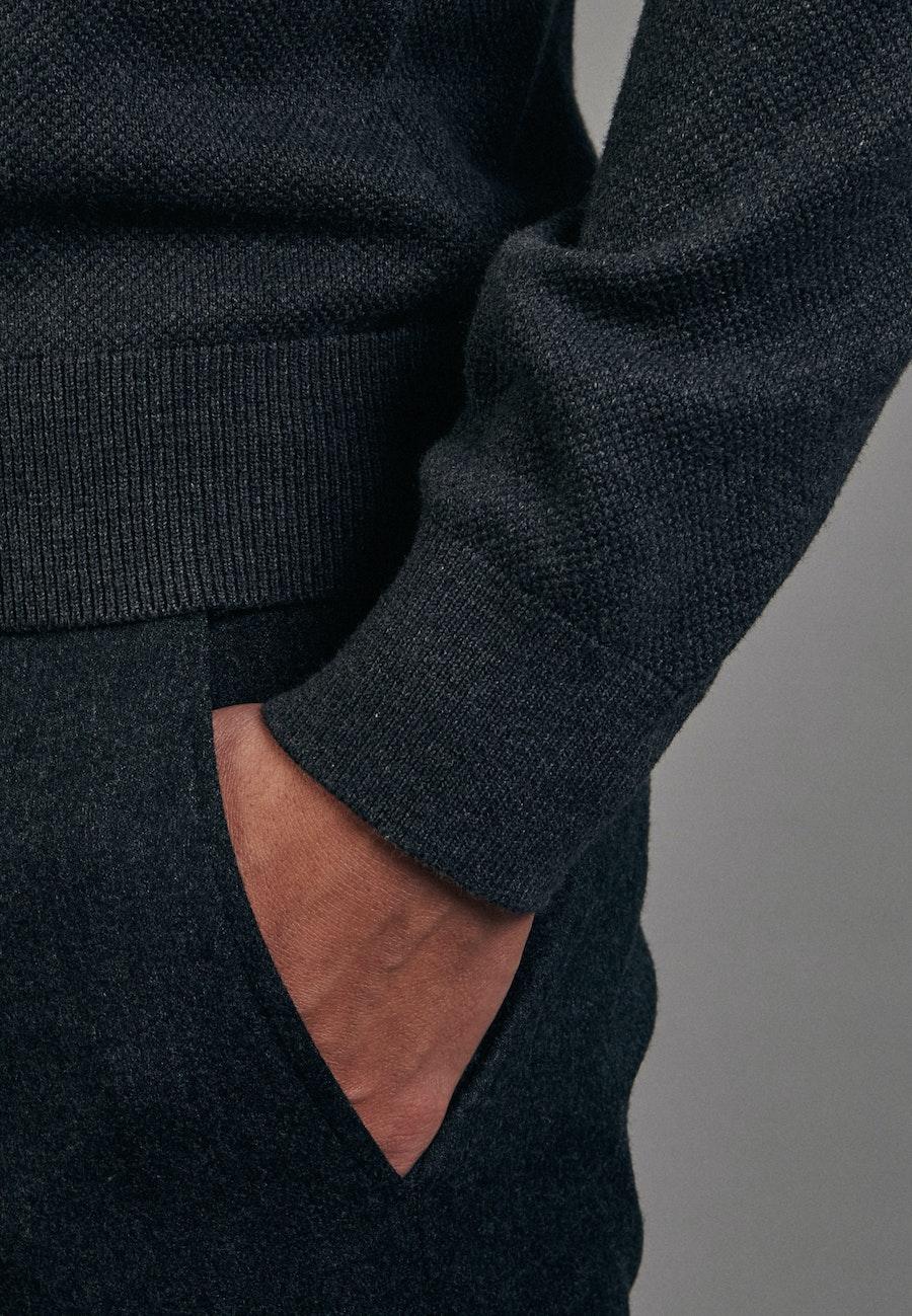 Stehkragen Strick Bomber aus 100% Baumwolle in Grau |  Seidensticker Onlineshop