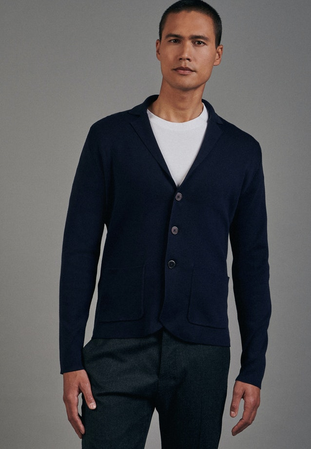 Jacket made of cotton blend in Dark blue |  Seidensticker Onlineshop