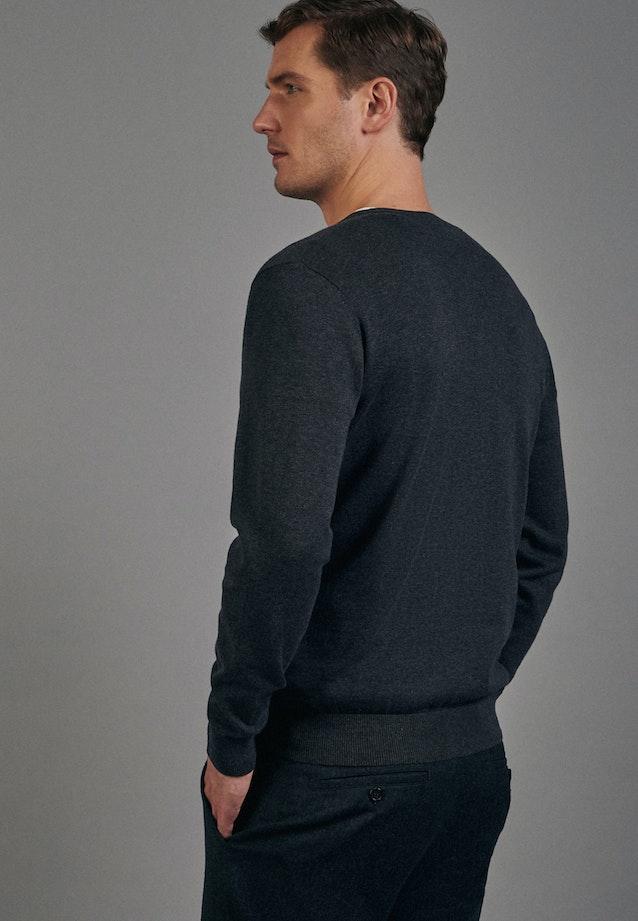 V-Neck Cardigan aus 100% Baumwolle in Grau |  Seidensticker Onlineshop