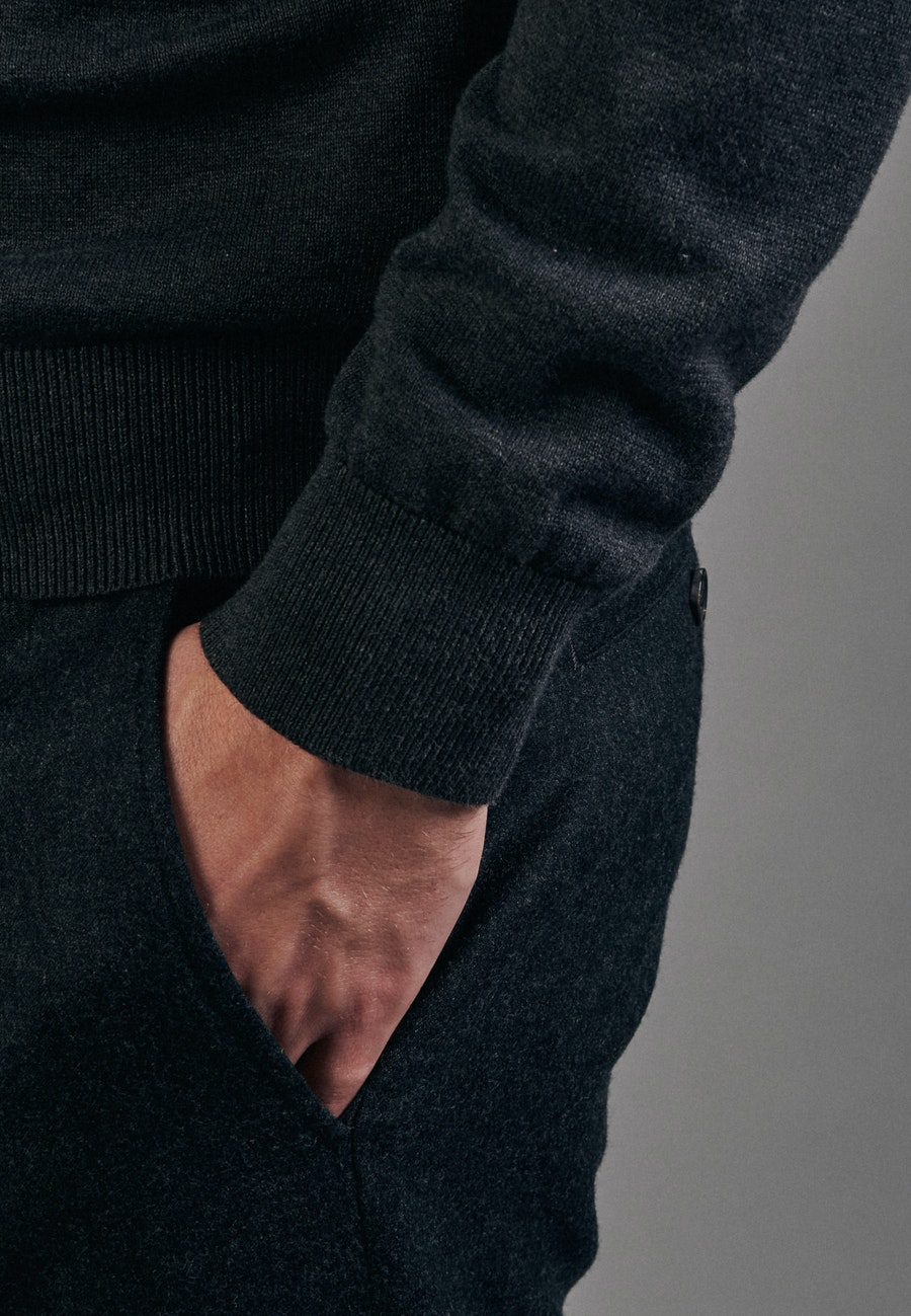 V-Neck Cardigan made of 100% Cotton in Grey |  Seidensticker Onlineshop