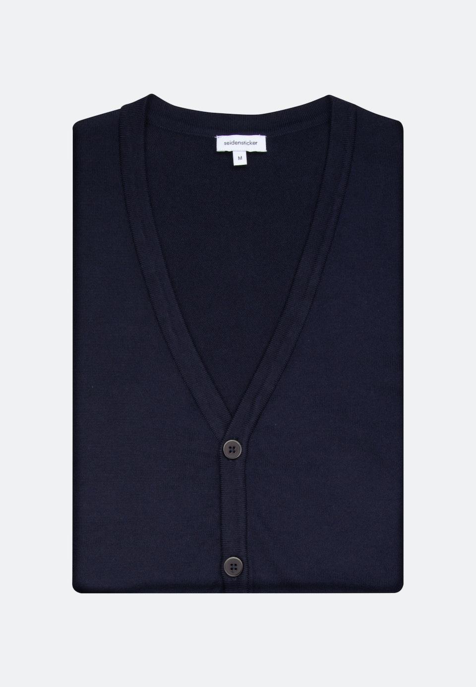 V-Neck Cardigan made of 100% Cotton in Dark blue |  Seidensticker Onlineshop