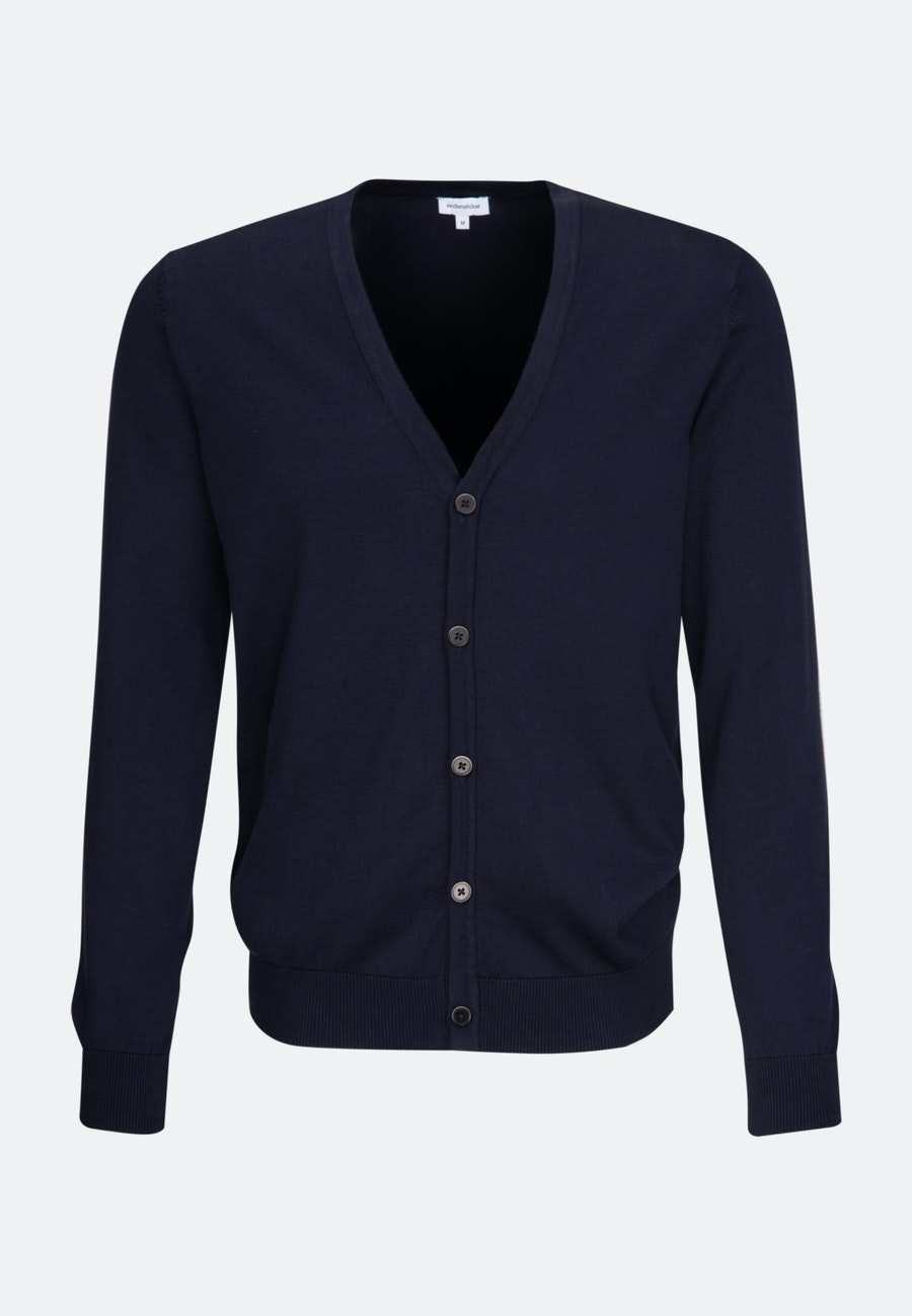 V-Neck Cardigan made of 100% Cotton in Dark blue |  Seidensticker Onlineshop
