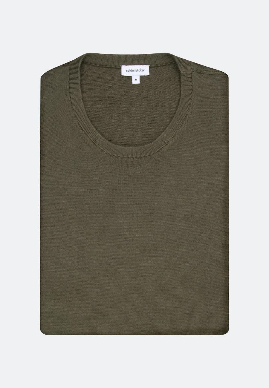 Crew Neck Pullover made of 100% Cotton in Green |  Seidensticker Onlineshop