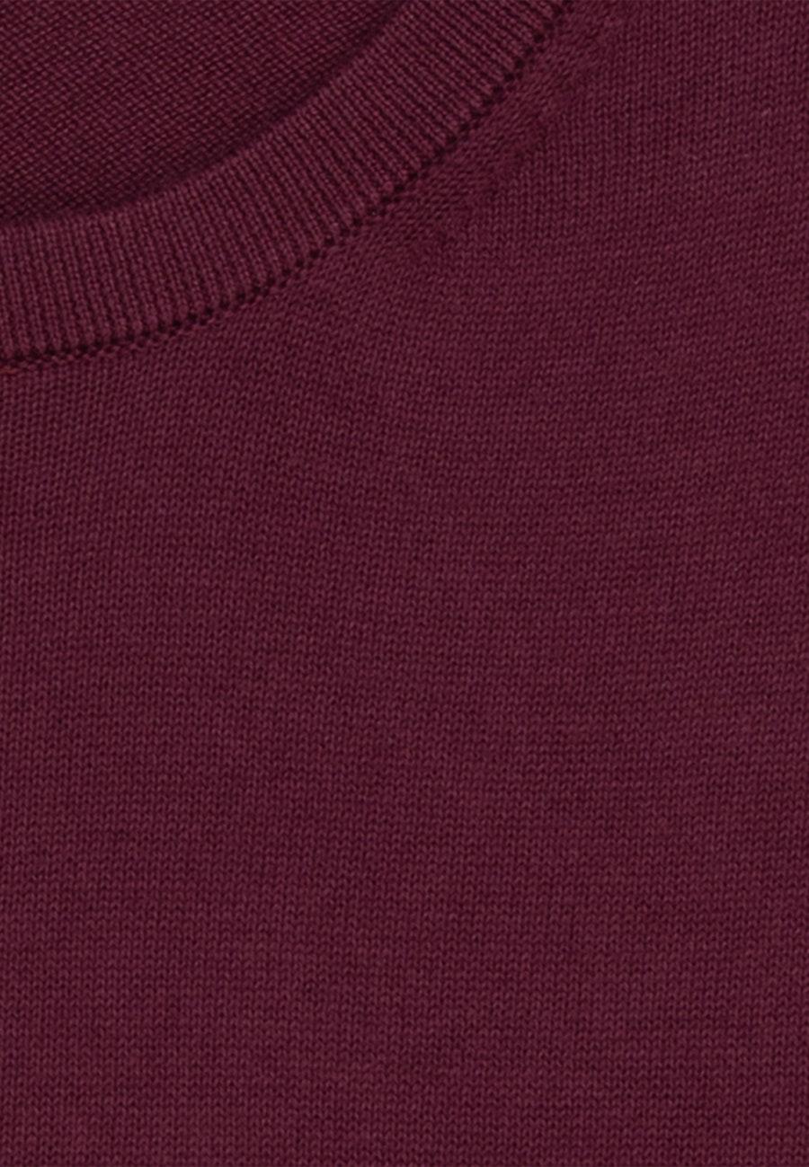 Crew Neck Pullover made of 100% Cotton in Red    Seidensticker Onlineshop
