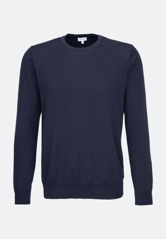 Crew Neck Pullover made of 100% Cotton in Dark blue |  Seidensticker Onlineshop