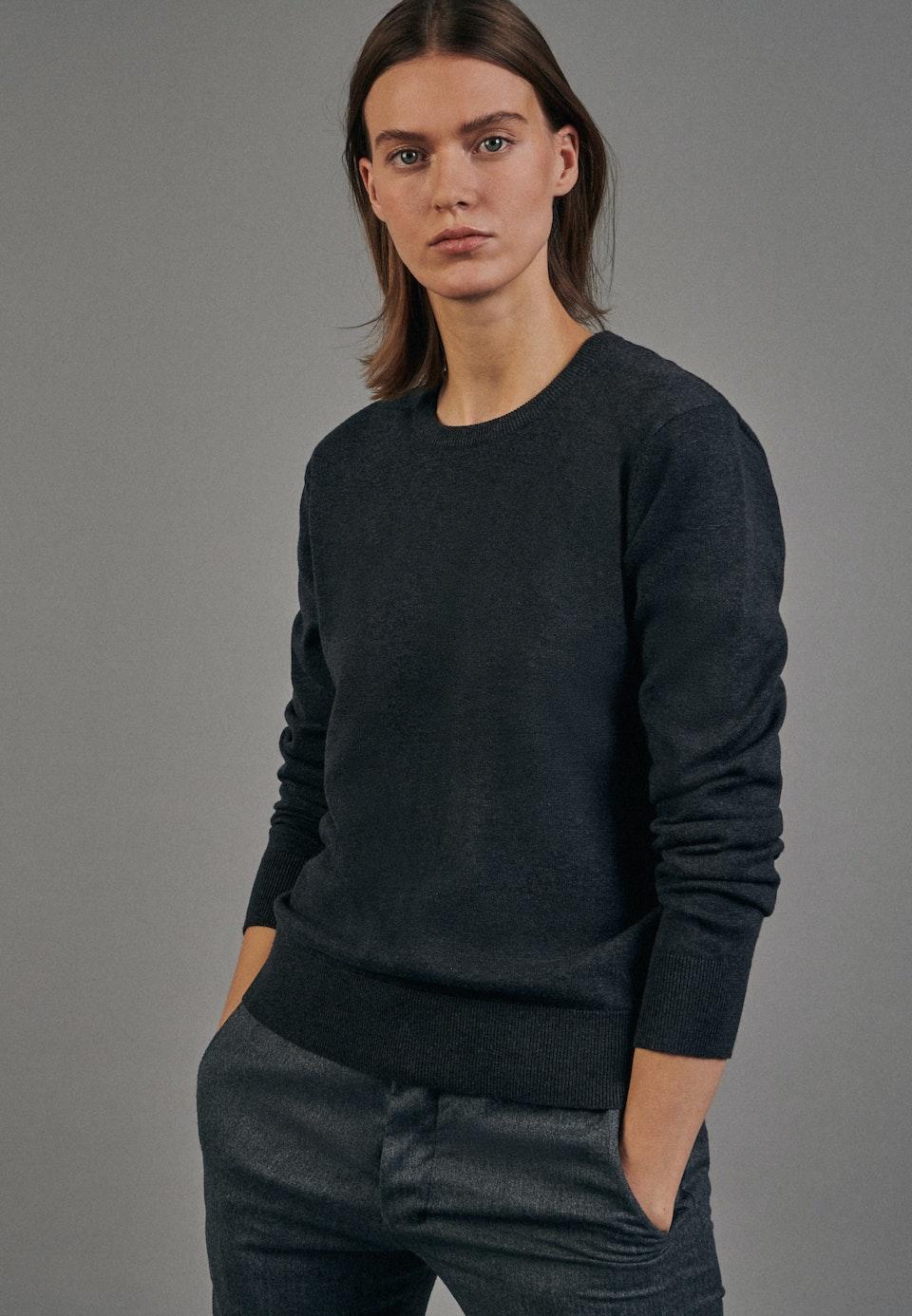 Crew Neck Pullover made of 100% Cotton in Grey |  Seidensticker Onlineshop
